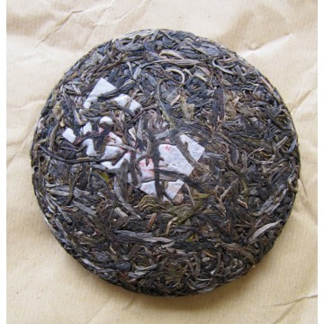 Galette de face - Puer Sheng BanPoZhai 250g [photo Cream of Banna]