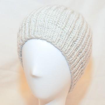 Bonnet en laine de yak (blanc cassé)