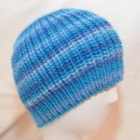 Bonnet en laine (camaïeu bleu)